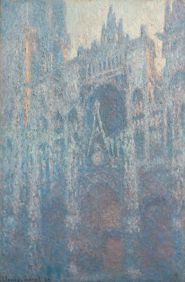 The Portal of Rouen Cathedral in morning light, Claude Monet, 1894, oil on canvas, Getty Museum