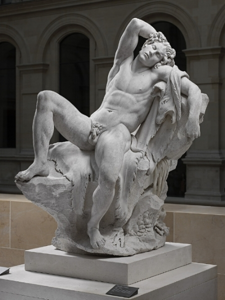 Edme Bouchardon, Sleeping Faun, 1726-30 (image courtesy of getty.edu)