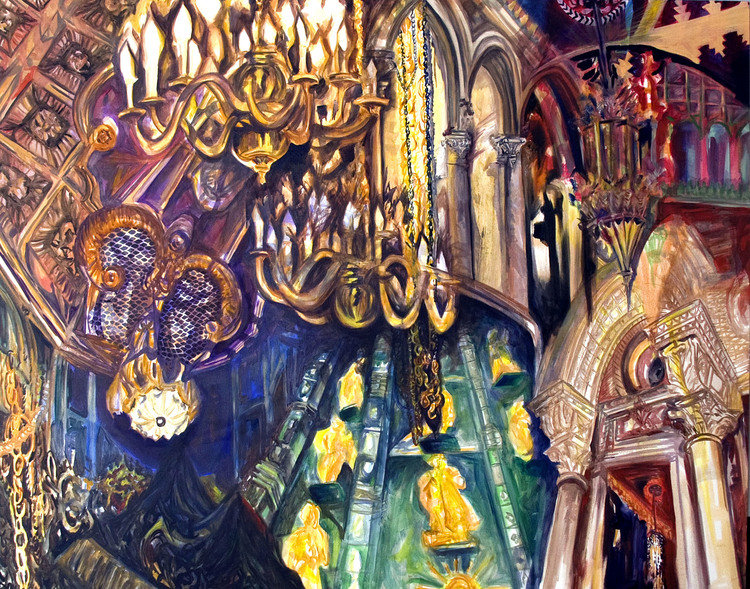 "Be my Guest, 48"" x 60"", oil on canvas, 2008"