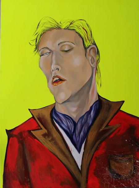 """Dorian,  oil & acrylic on canvas, 36"""" x 48"""" 2007"""