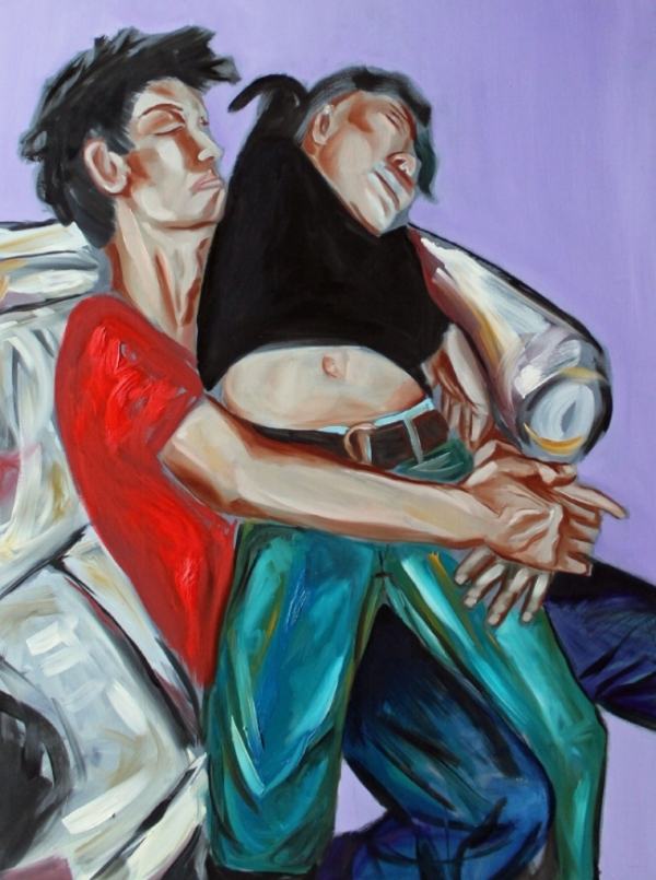 Together - oil on canvas, 30 x 40 inches, 2006