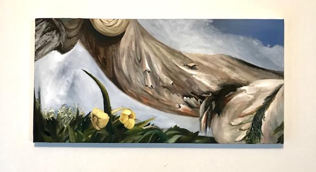 """TBT,oil on canvas, 15"""" x 30"""", 2017"""