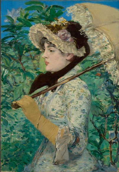 Jeanne (Spring),  Edouard Manet, oil on canvas, 1881