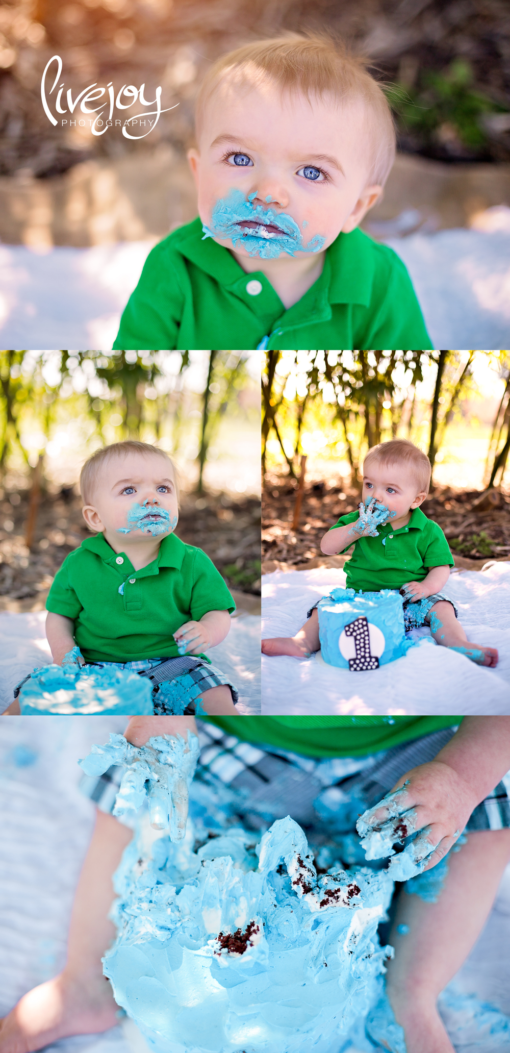Cake Smash 1 Year Baby Boy Photography | LiveJoy Photography | Oregon