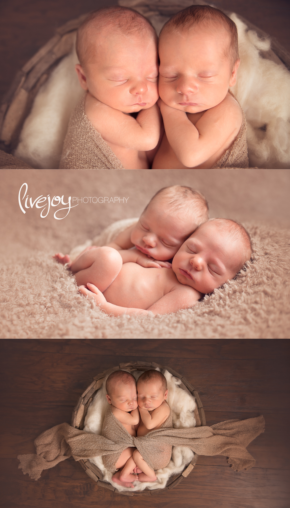 Twin Newborn Boy Photos | Oregon | LiveJoy Photography