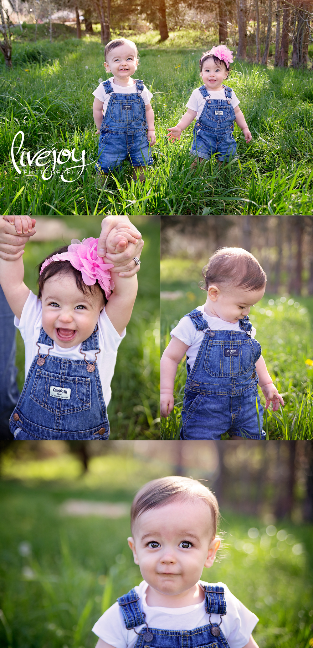 Twin 1 Year Photos | Brother and Sister | Oregon LiveJoy Photography