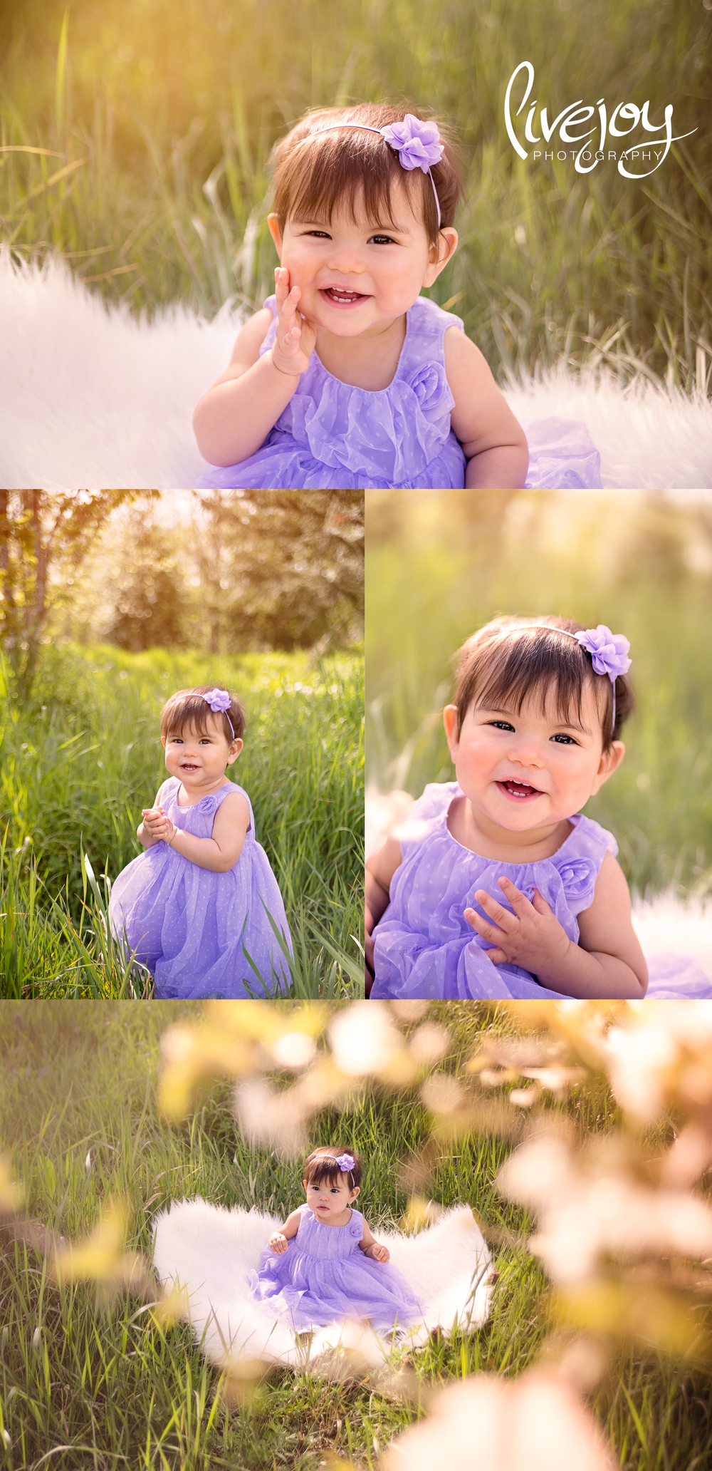 1 Year old Photography | Purple | Oregon | LiveJoy Photography