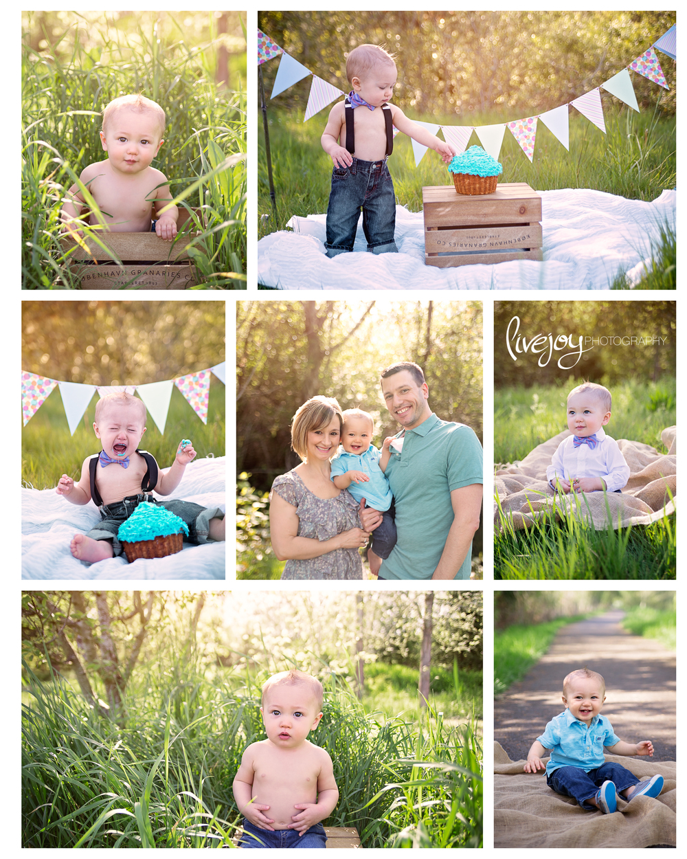 Baby 1 Year Photos and Cake Smash | LiveJoy Photography | Oregon