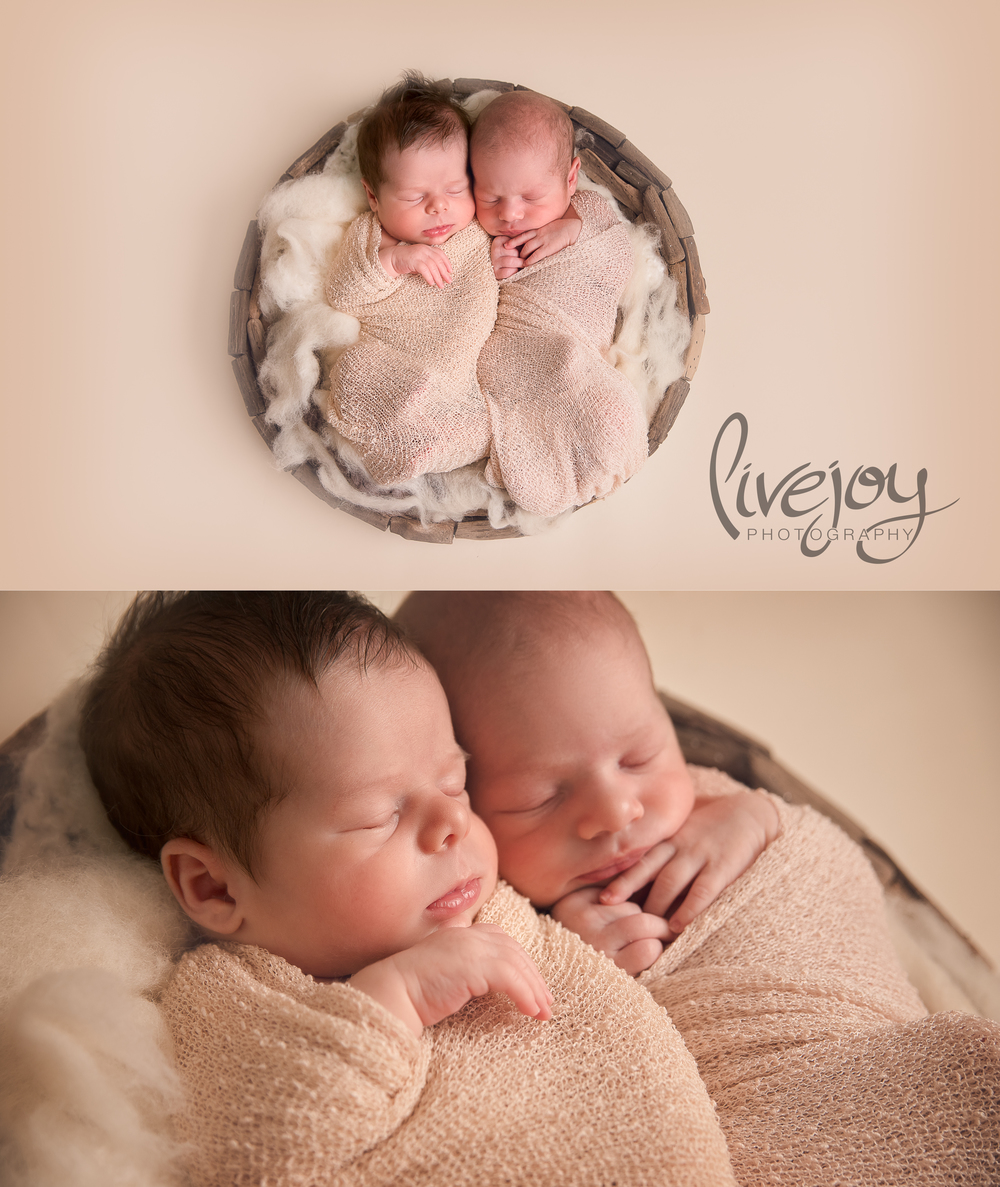 Twin Newborn Boy Photography | LiveJoy Photography | Oregon