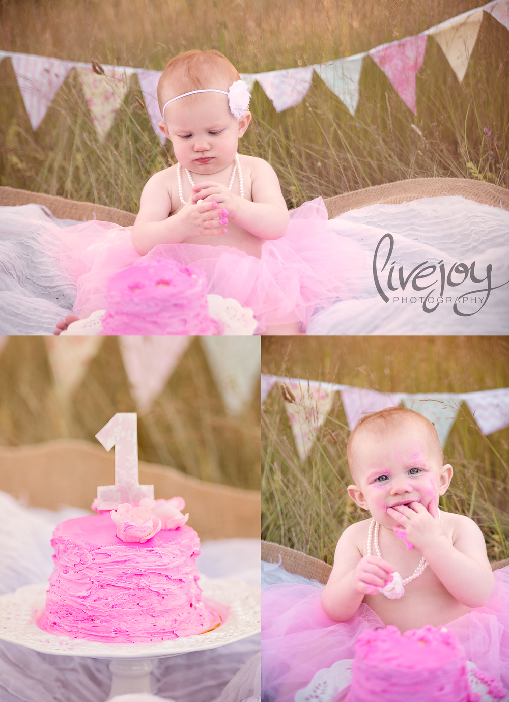 1 Year Baby Photography Cake Smash | LiveJoy Photography | Oregon