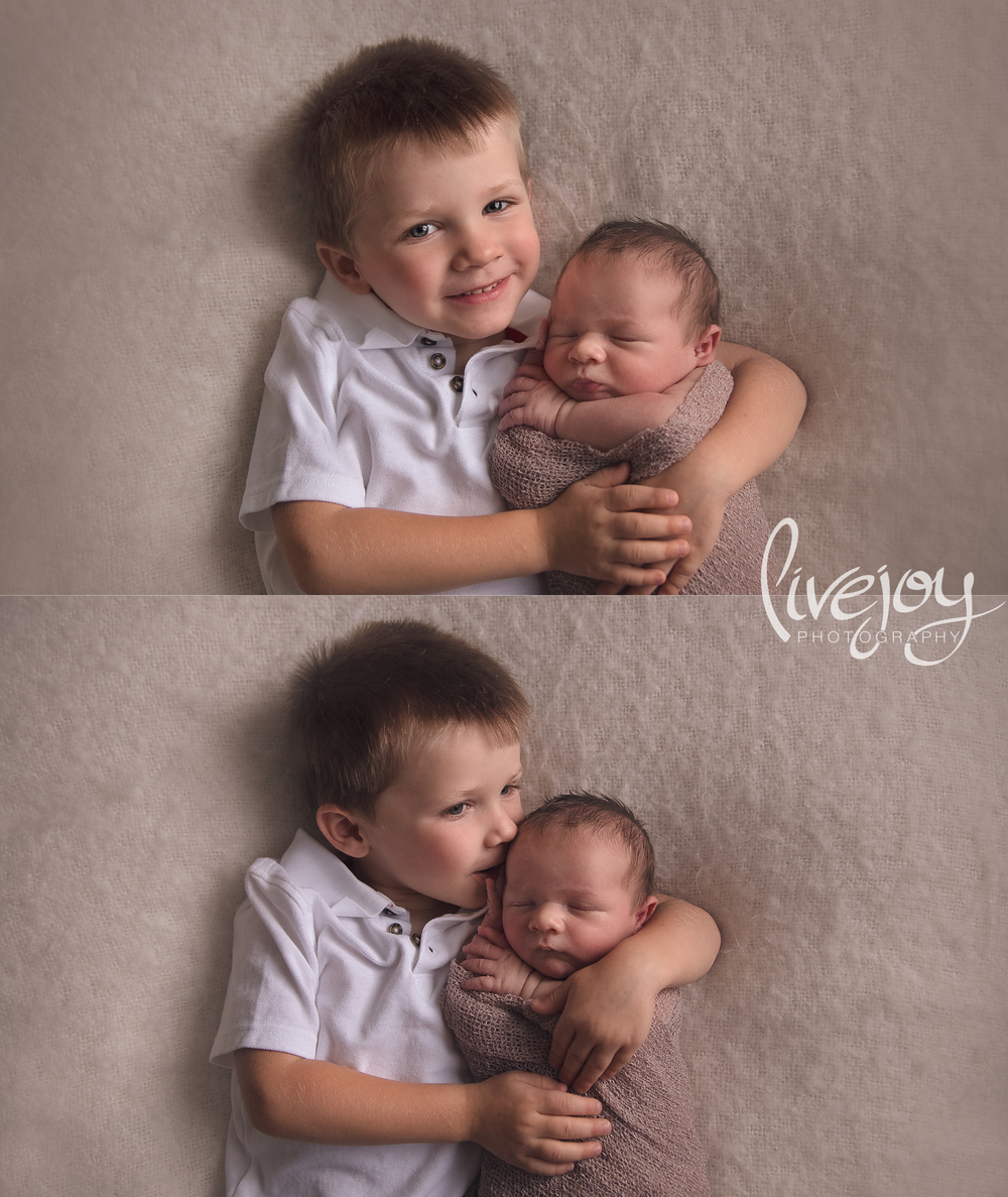 Newborn Sibling Photography | Salem, Oregon | LiveJoy Photography