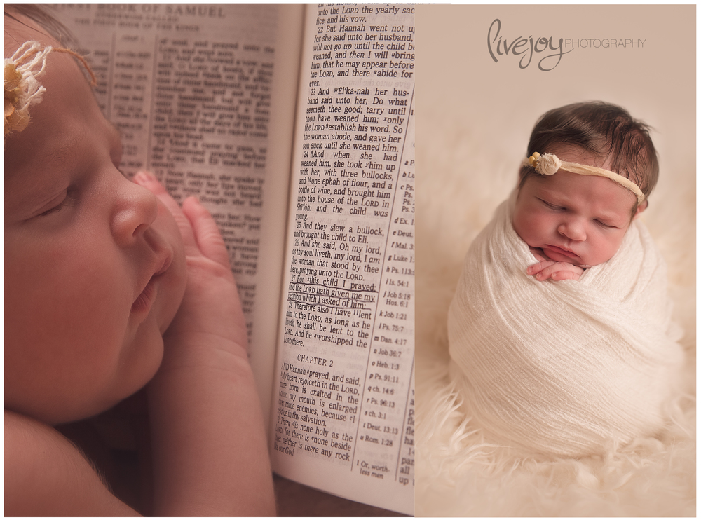 """For this child I prayed"". 1 Sam. 1:27 | Newborn Photography | Oregon | LiveJoy Photography"