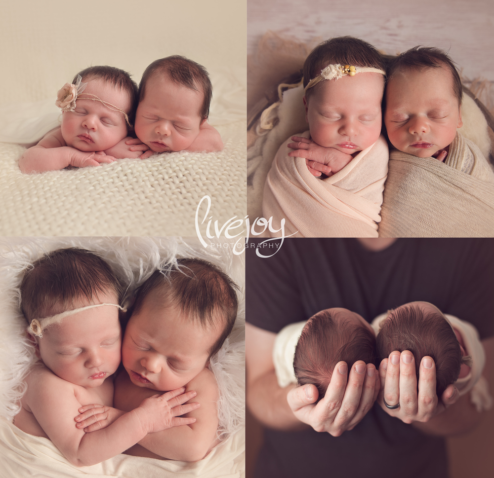 Twin Newborn Photography | Oregon | LiveJoy Photography