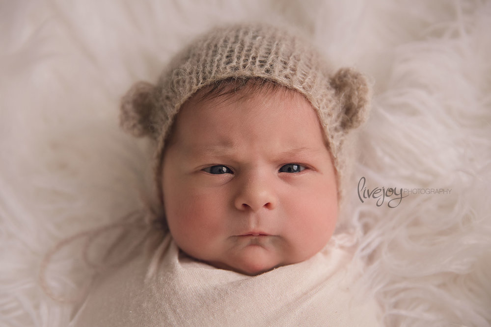 Grumpy Face... hahaha! | Newborn Photography | Salem, Oregon | LiveJoy Photography