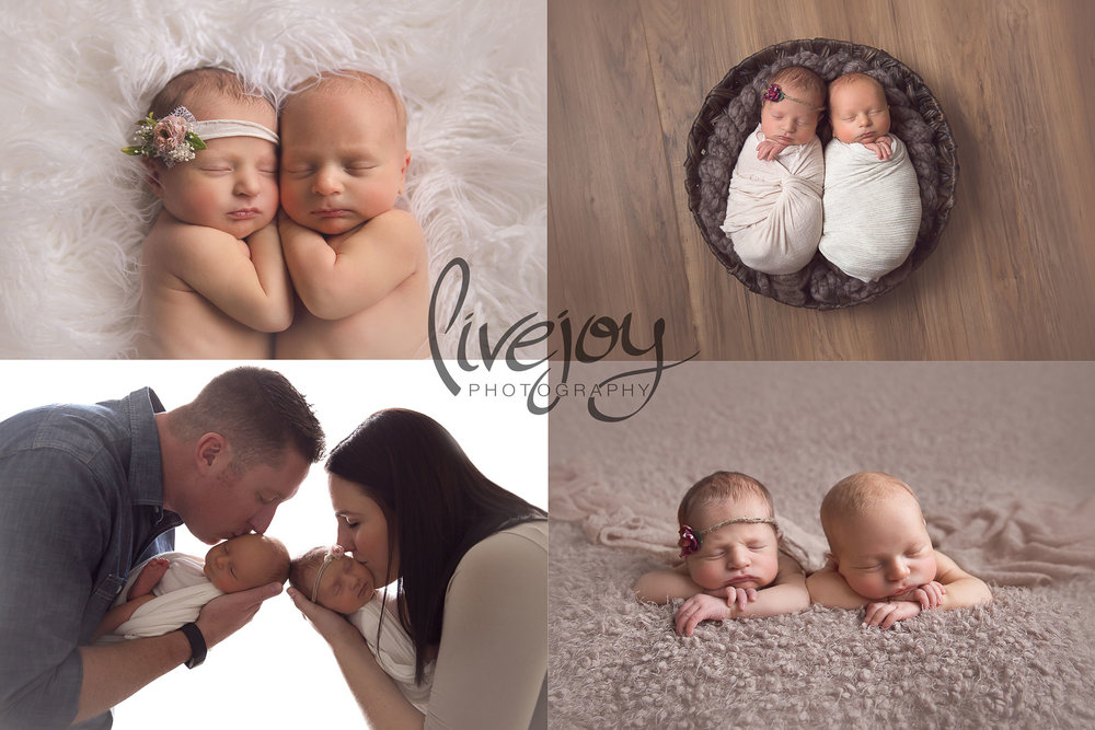 Twin Boy & Girl Newborn Photography | Oregon | LiveJoy Photography