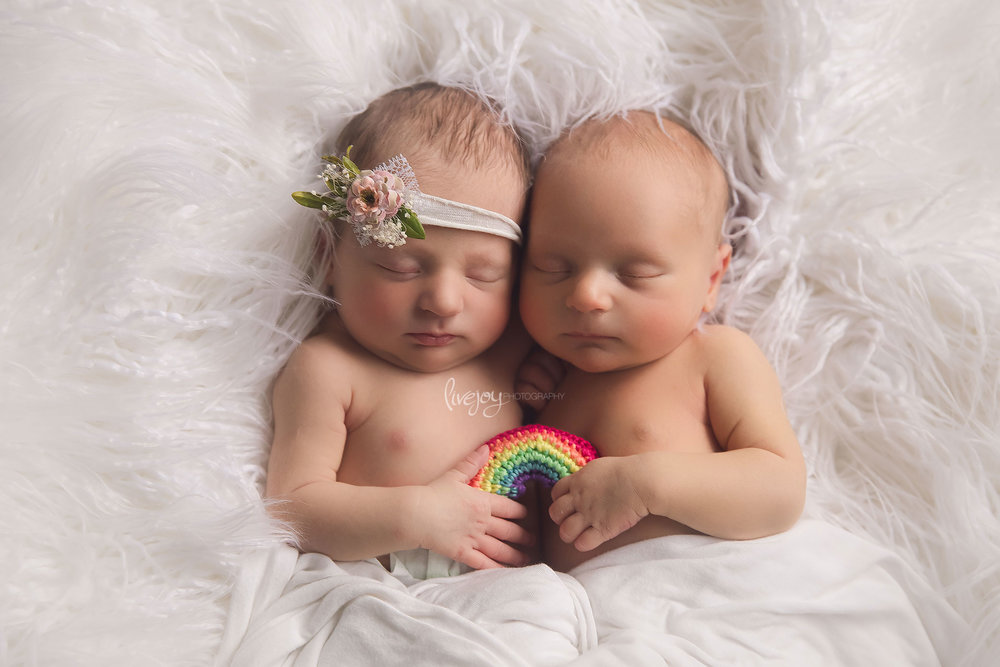 Rainbow Baby Twins | Newborn | Oregon | LiveJoy Photography