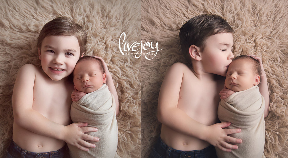 Sibling Newborn Photos | Oregon | LiveJoy Photography