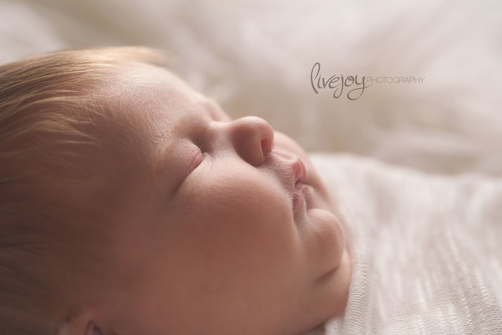 Profile Face Newborn Photos | Oregon | LiveJoy Photography