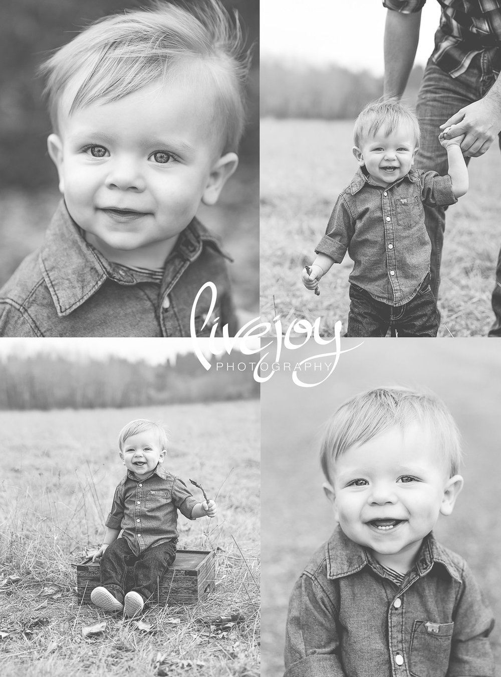 One Year Baby Photos | Black and White « Oregon | LiveJoy Photography