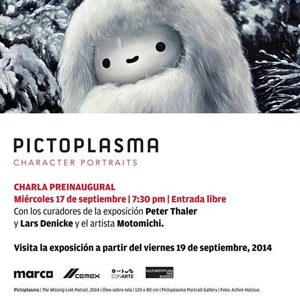 Pictoplasma Mexico Character Portraits Exhibition  MARCO, Museo de Arte Contemporáneo de Monterrey  September 19, 2014 - January 11, 2015   ItchySoul piece: 'Yog the SkeletonGirl selfie'