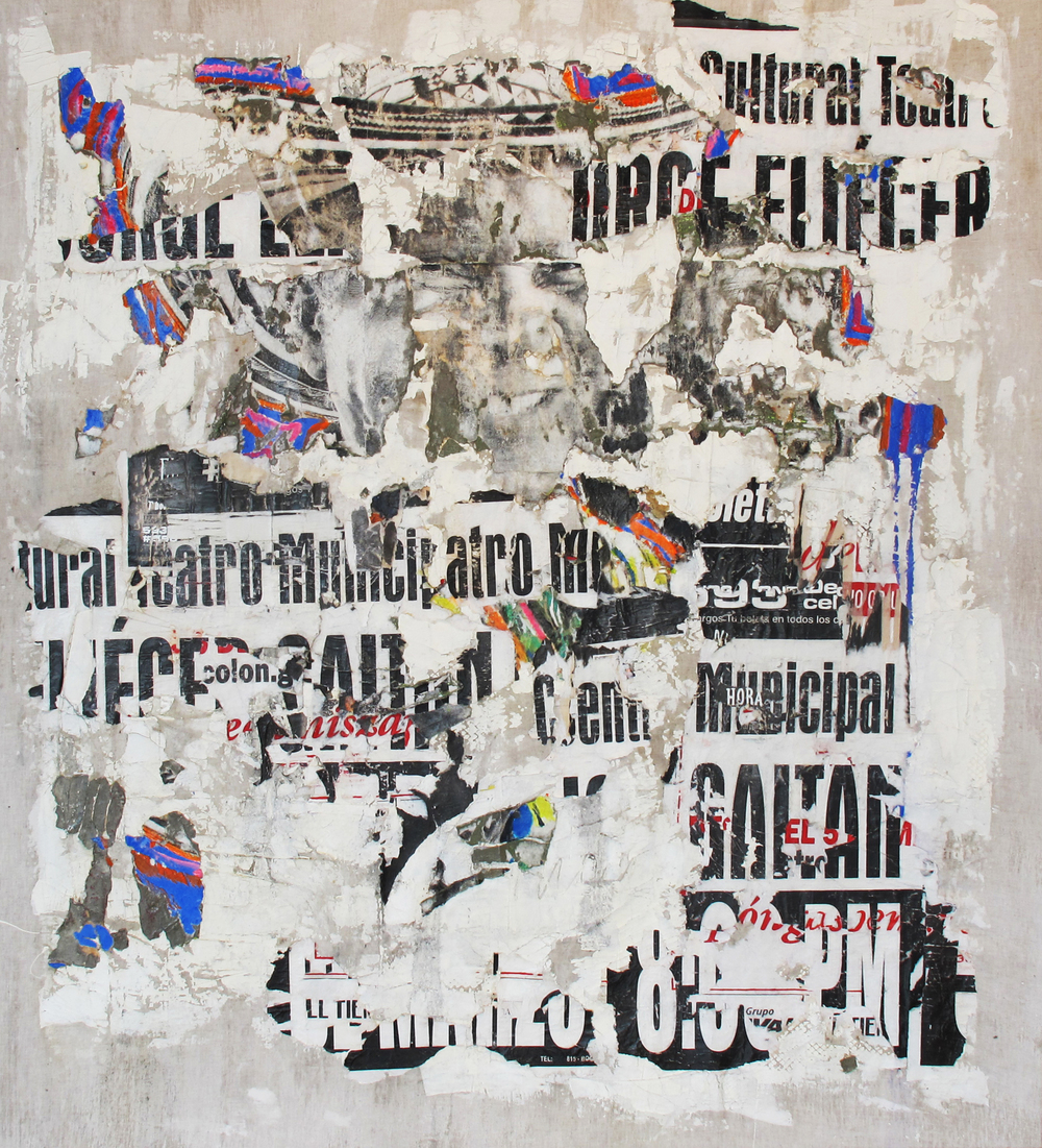 """Carrera 7 Con 68"", 58 x 53 in., mixed media on canvas"