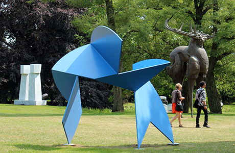 The NordArt sculpture garden.
