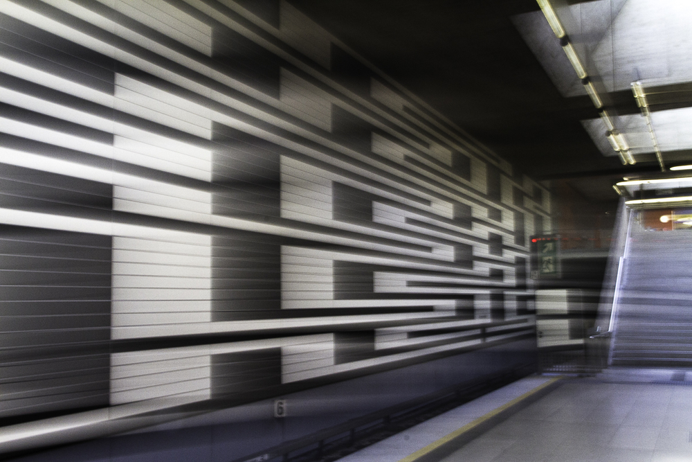 Projective Space Series by Liam Philley (liamphilley.com) -- munich subway station.jpg