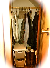 Jennifer Closet after cleaning it out