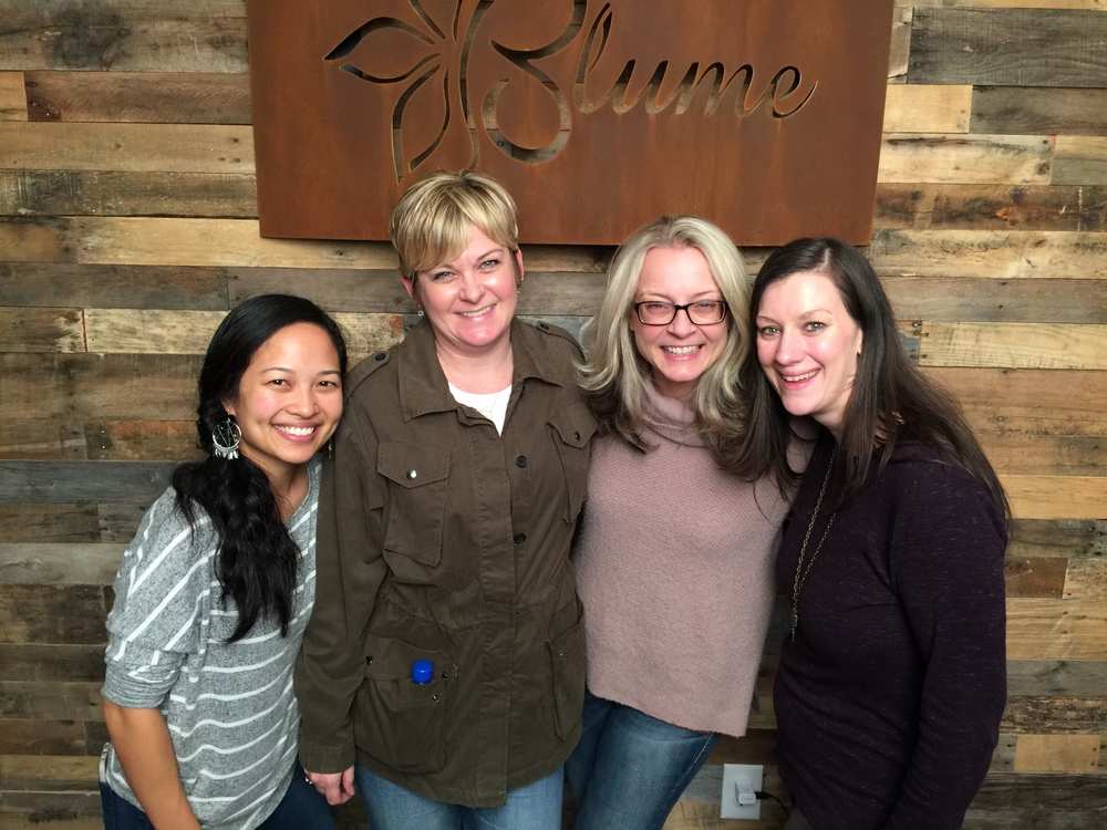 Left to right Eileen Marie Pascual Blume, Judy Reinford, Julia Kelleher and Belinda DeBoard.