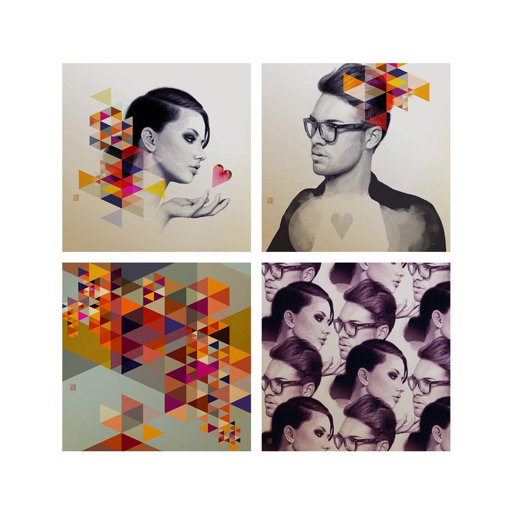 Purple Night Collection - Retro Modern Love Series
