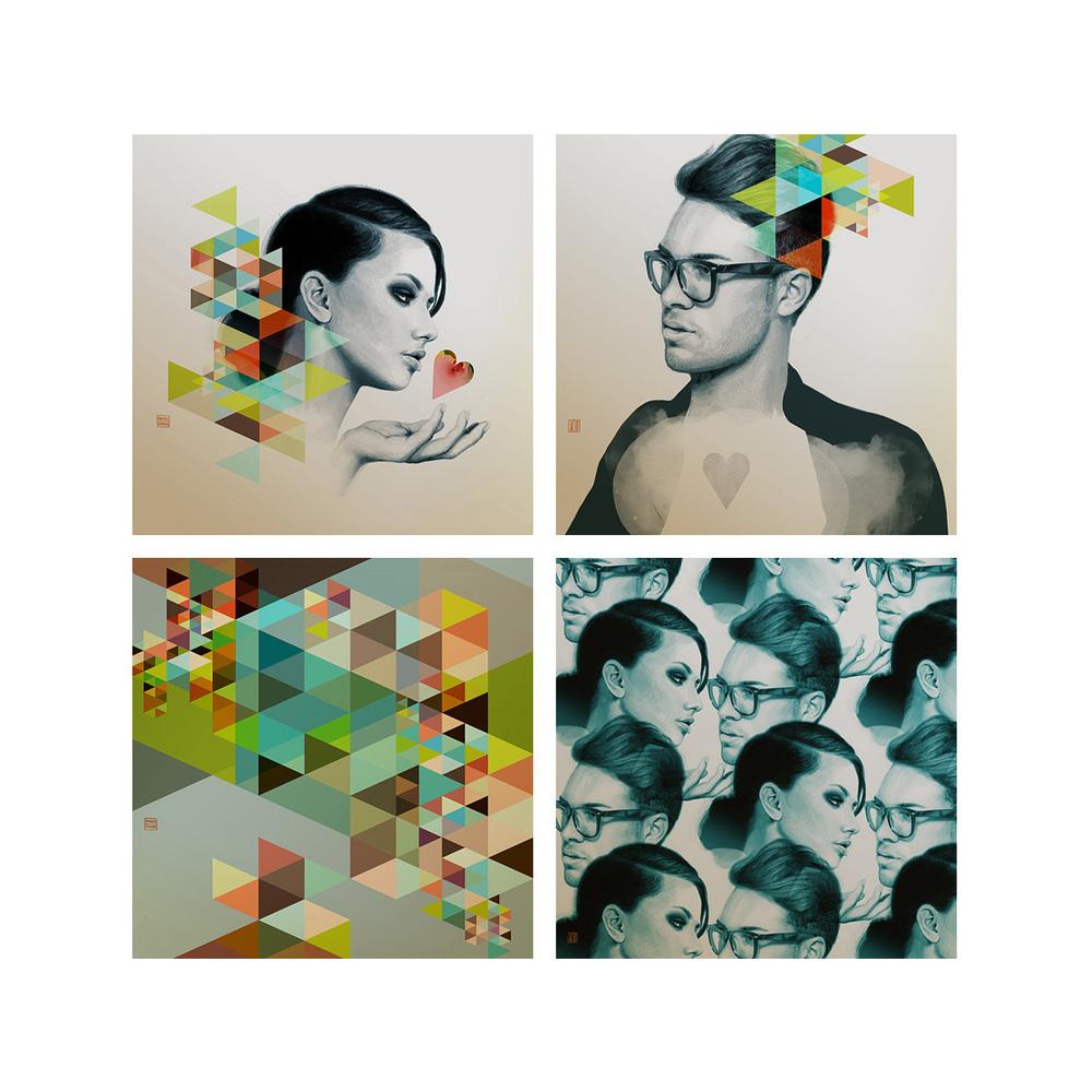 Kaki Azure Collection - Retro Modern Love Series