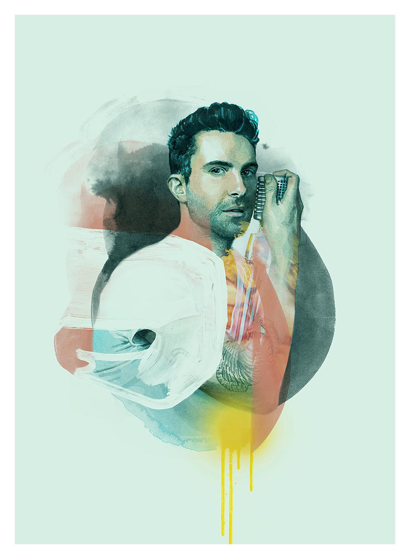 Adam Levine Portrait