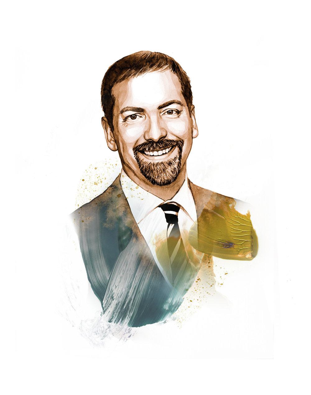 NEW! Journalist Chuck Todd Portrait
