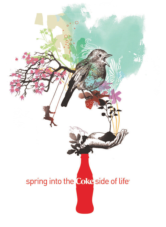 ​2008 Spring into the Coke Side of Life - Campaign Poster