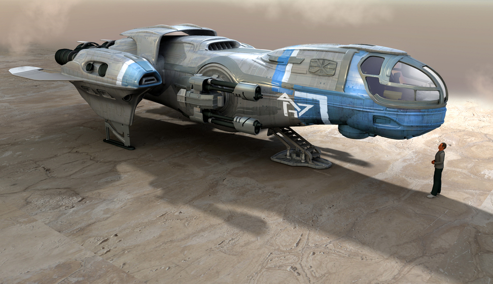 Probably more of a freighter than fighter, but armed nonetheless.
