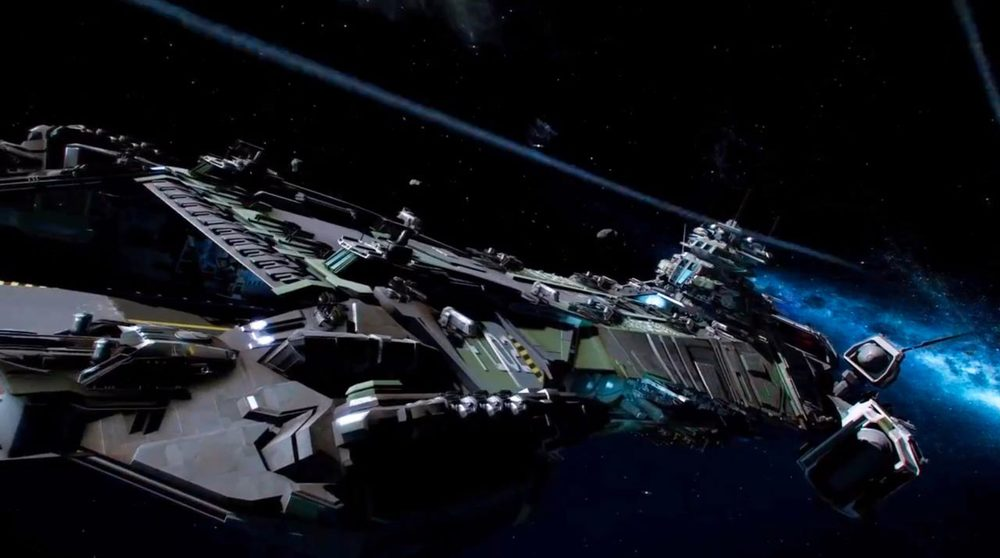 Even the BIG ships will be pilotable in Star Citizen.