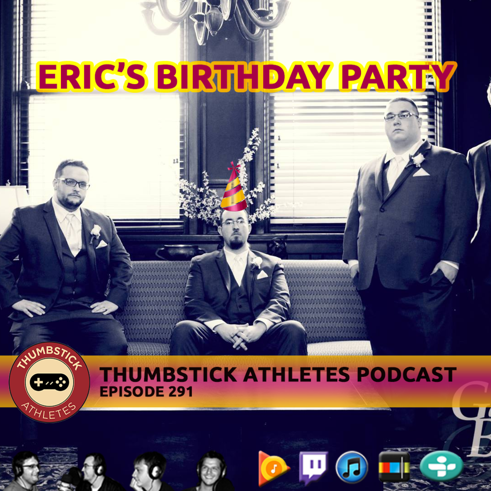Eric's birthday party podcast cover image.