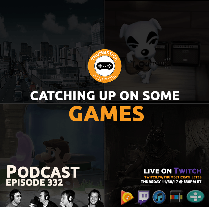 catching up on some games podcast episode cover image