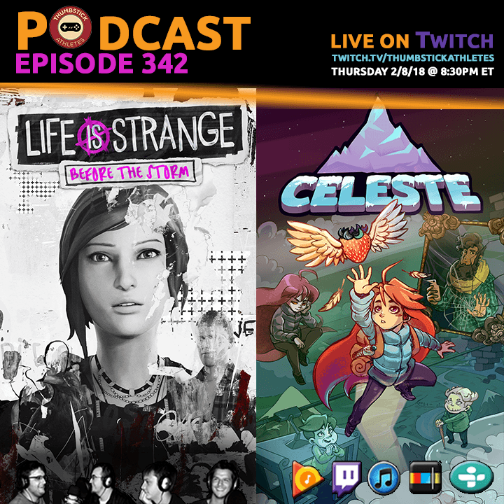 Celeste and Life is Strange Before the Storm podcast episode cover image