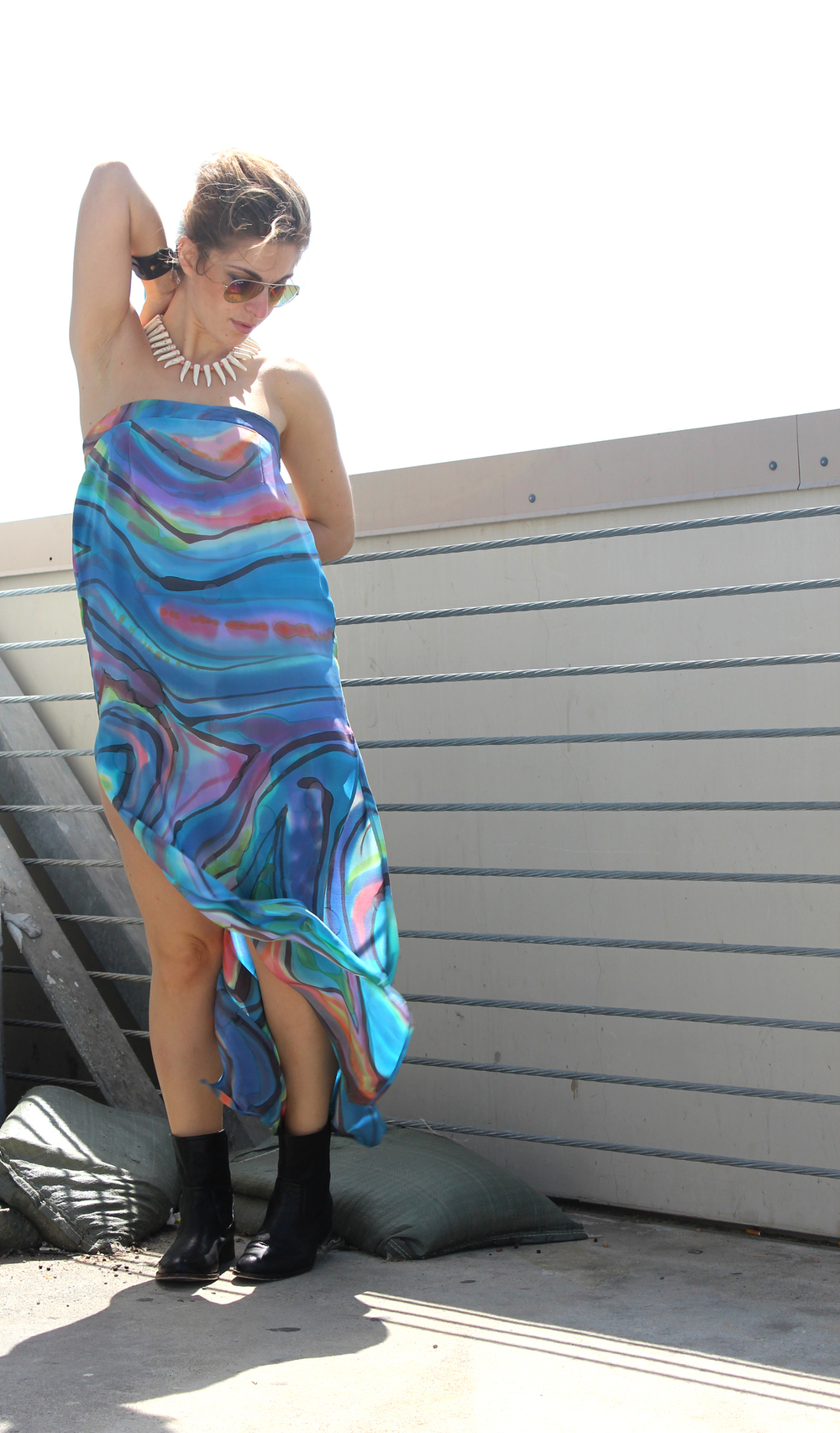 1.  as a dress with some cool flat boots for an easy summer weekend look