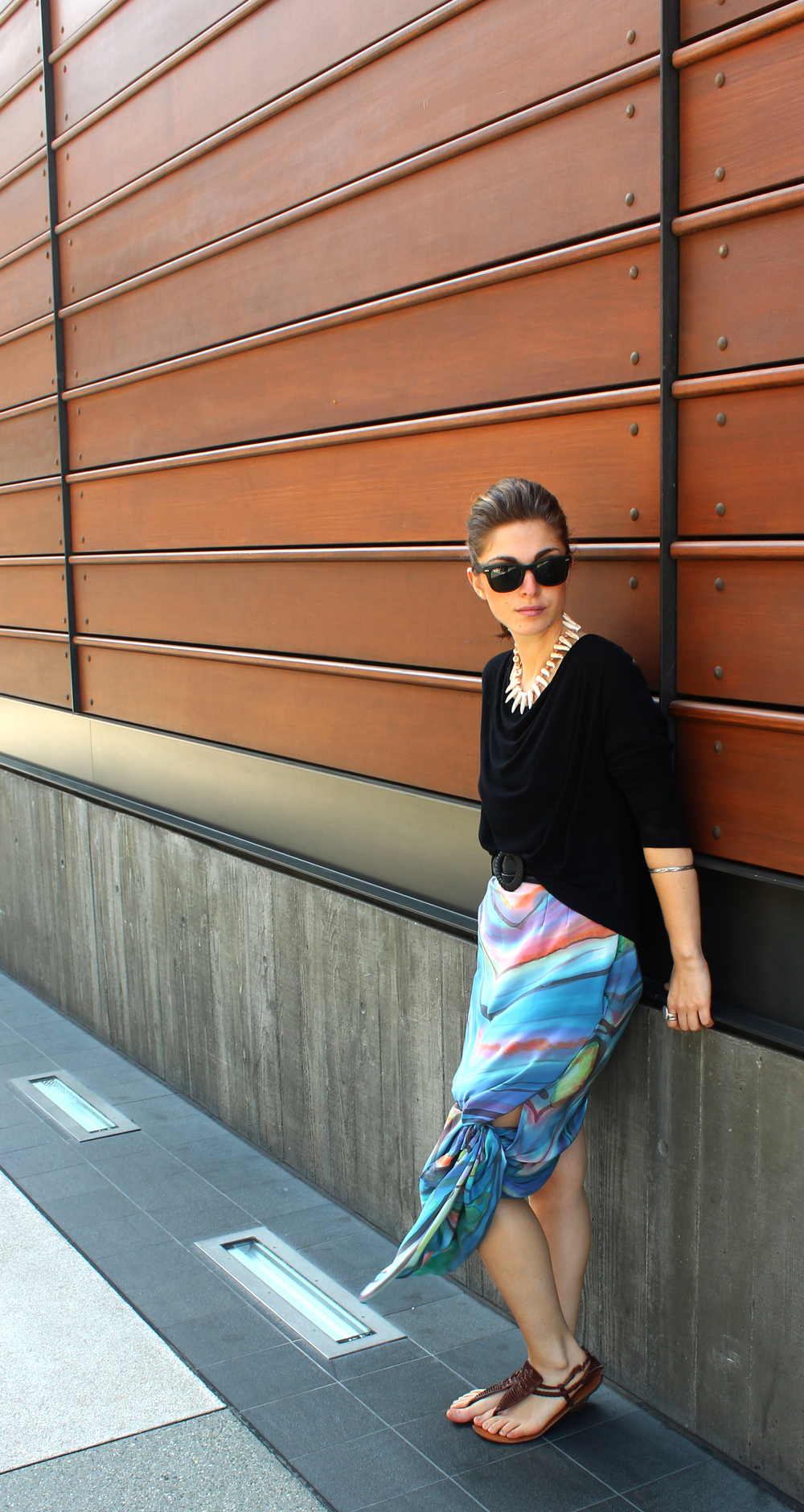 5.  as a skirt tied to the side - as the summer day gets hotter make yourself more comfortable bytyinga simple side knot!