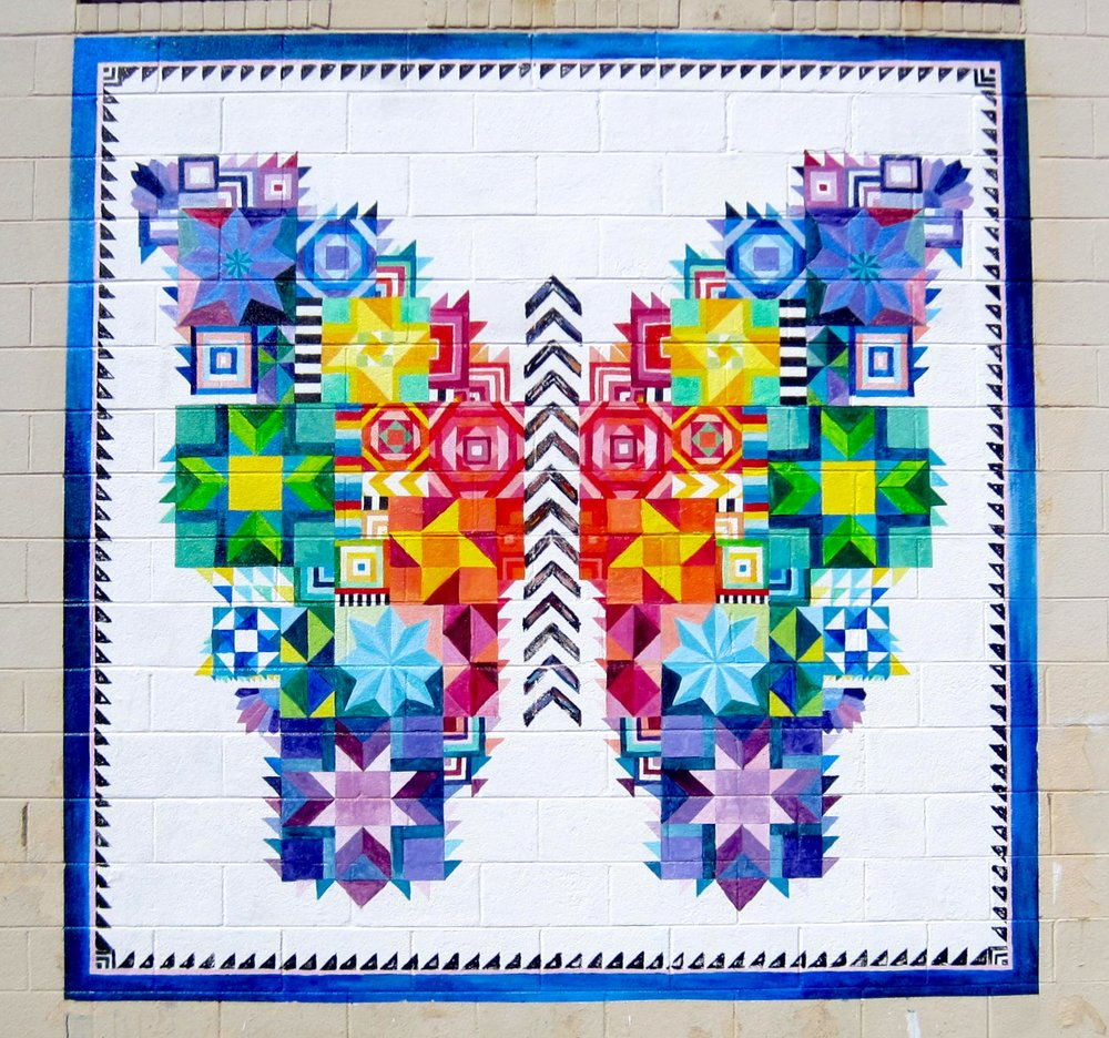 Painted Butterfly Quilt