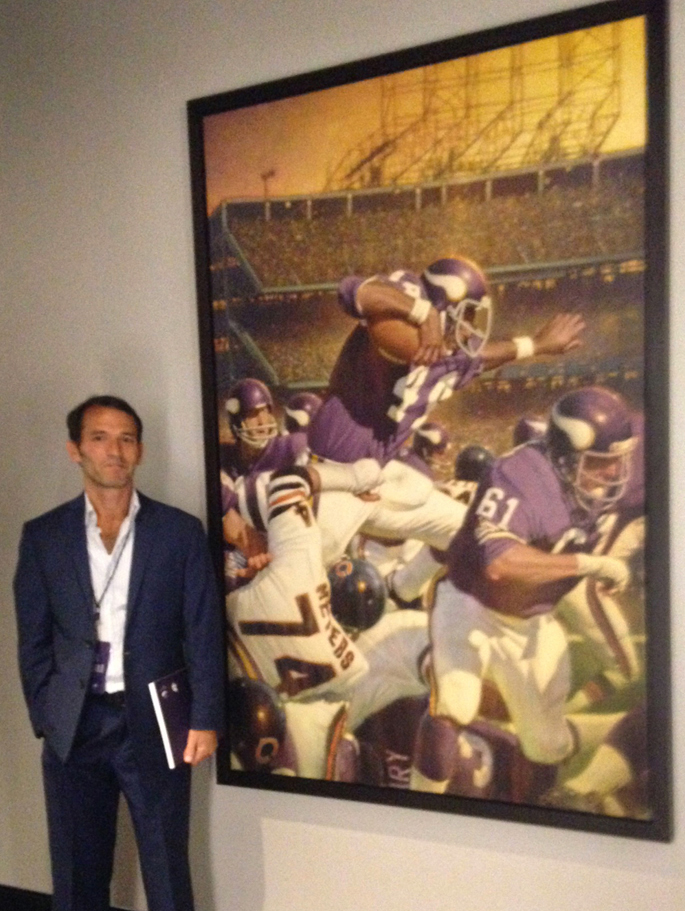 - Oil Painting commissioned for Minnesota Vikings and U.S. Bank Stadium Art Collection, 6' x 4'
