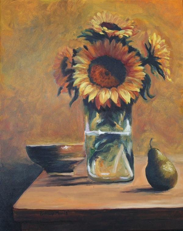 Sunflower Still Life - Oil .jpg
