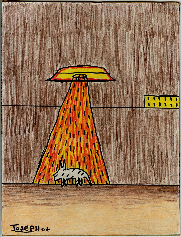 UFO drawing by Joseph 2004