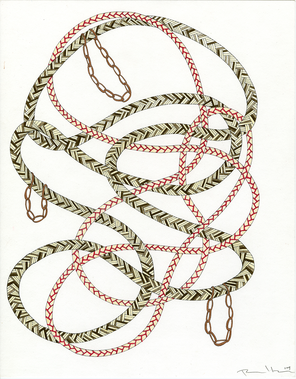 Ropes in Brown, Red, White, & Copper_11x14_2009_CC.jpg