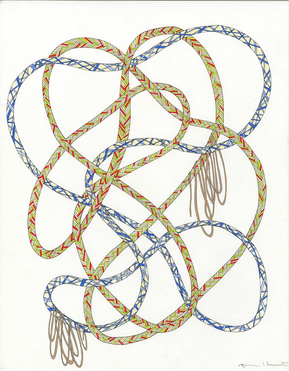 Ropes in Neons, Blue, & Tan_11x14_2009_CC.jpg