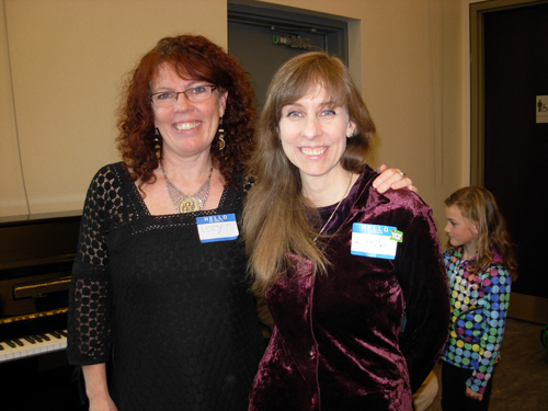 Lory MacDonald and Art Workshop Leader Lynda Smith
