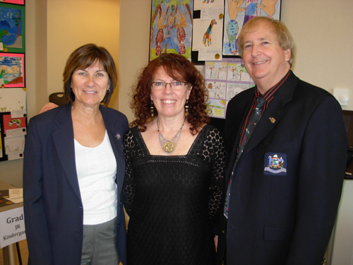 Mayor Sandra Bonwick, Lory MacDonald and Deputy Mayor Rick Loydd