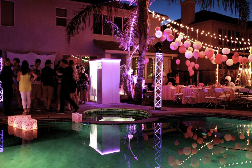 Photo Booth from Entourage Event SF Lights from Entourage Event SF DJ Service Entourage Event SF Floating Water Lanterns from Sky Lanterns